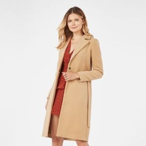 🍂NWOT Just Fab Belted Oversized Wool Coat
